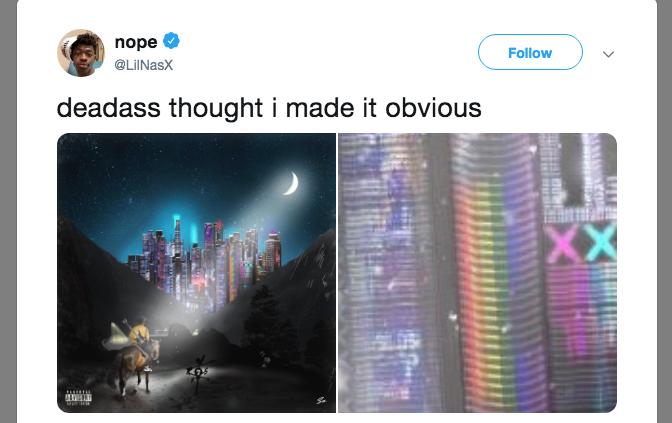 Lil Nas X a d'abord demandé à ses fans de se pencher sur le message du titre C7osure afin d'illustrer son coming out à venir sur Twitter