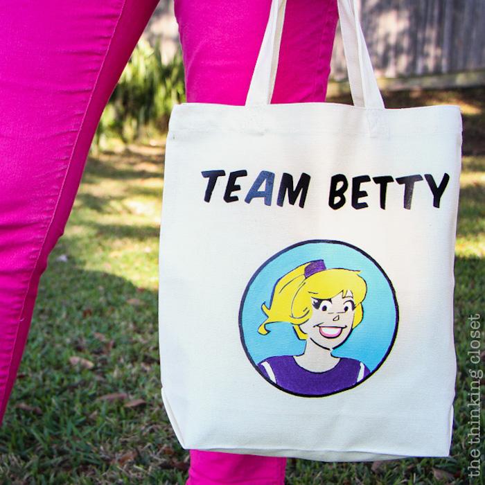 Team betty sac cabas simple, modèles de sacs en tissu à faire soi-même tendances 2019