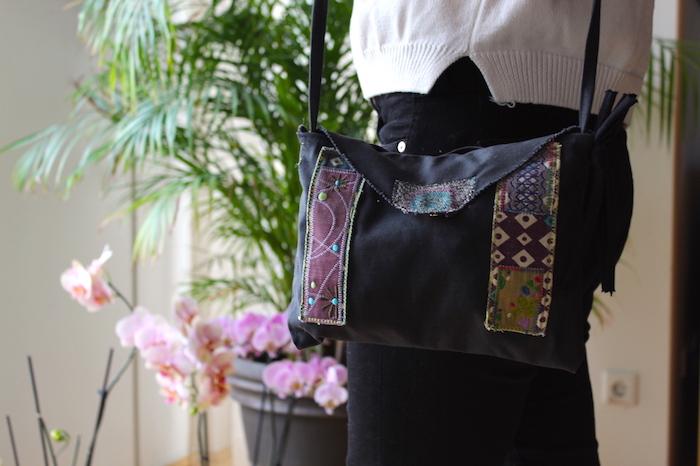 Jean sac bandouillere, tuto couture, modèles de sacs en tissu à faire soi-même