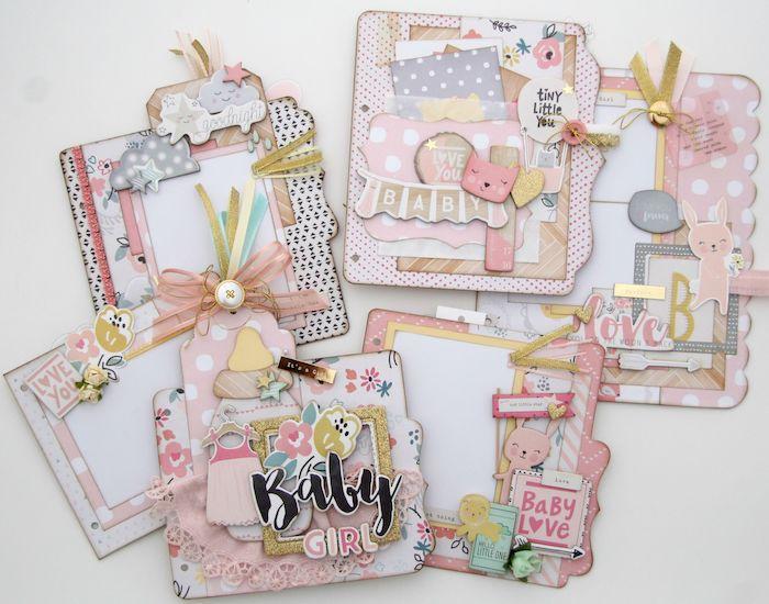 Idée album bébé, fabriquer un carnet pour son enfant ou pour cadeau nouveau bebe, album photo diy, scrapbooking voyage idées en photos