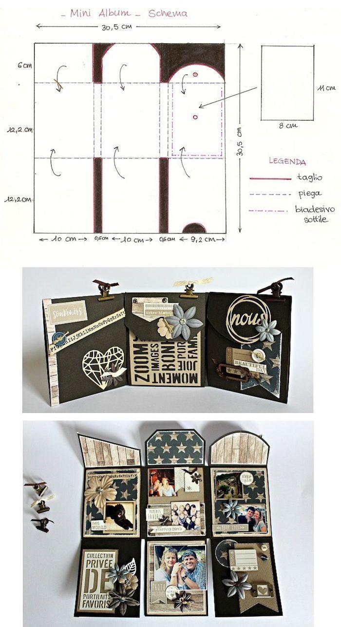 Pliable livre six pages à décorer, cool idée original album photo scrapbooking, comment faire un livre personnalisé
