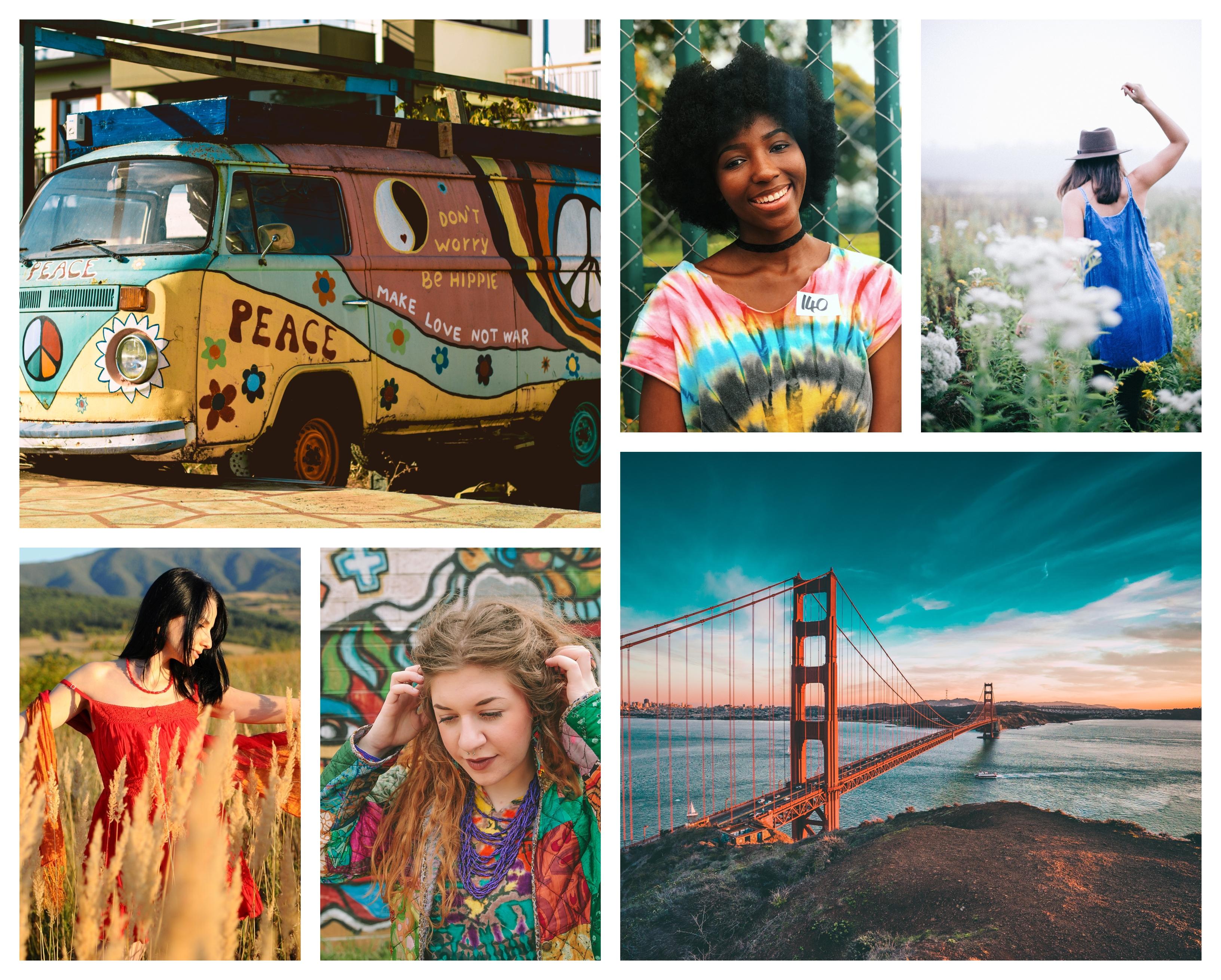 Hippie chic mode d'été 2020, comment s'habiller bien cet ete, San Francisco inspiration, Californie liberté
