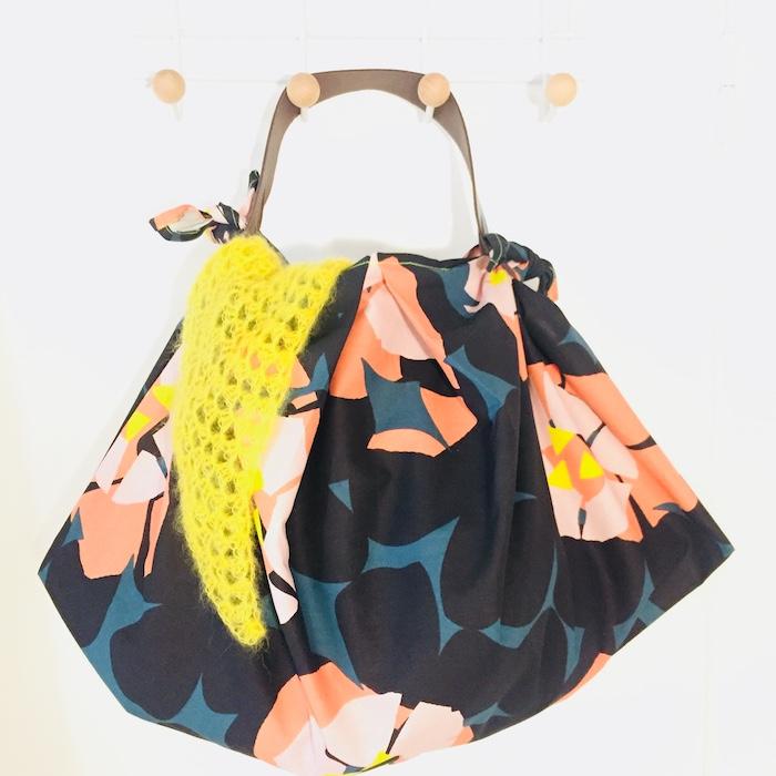 Fleurie tuto sac cabas, simple idée d'activité manuelle, sac moderne