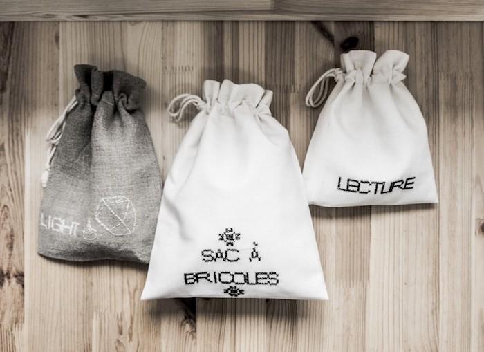 Trois sacs en tissu, modele sac a main a faire soi meme tendance ete lecture