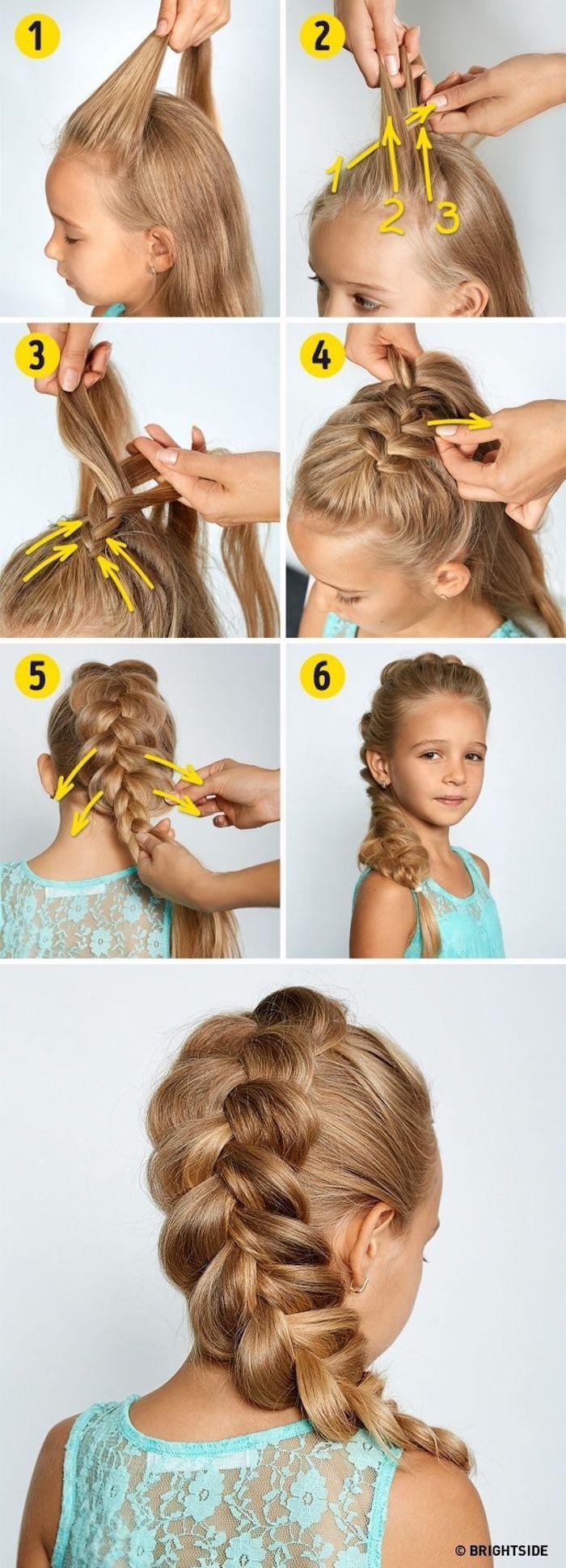 Tuto pas à pas tresse indienne, coiffure facile cheveux long, idée de coiffure simple et rapide