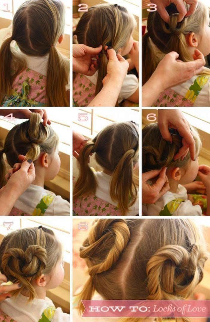 Suivre les pas pour créer une tresse tuto coiffure facile, coiffure simple et rapide pour fille