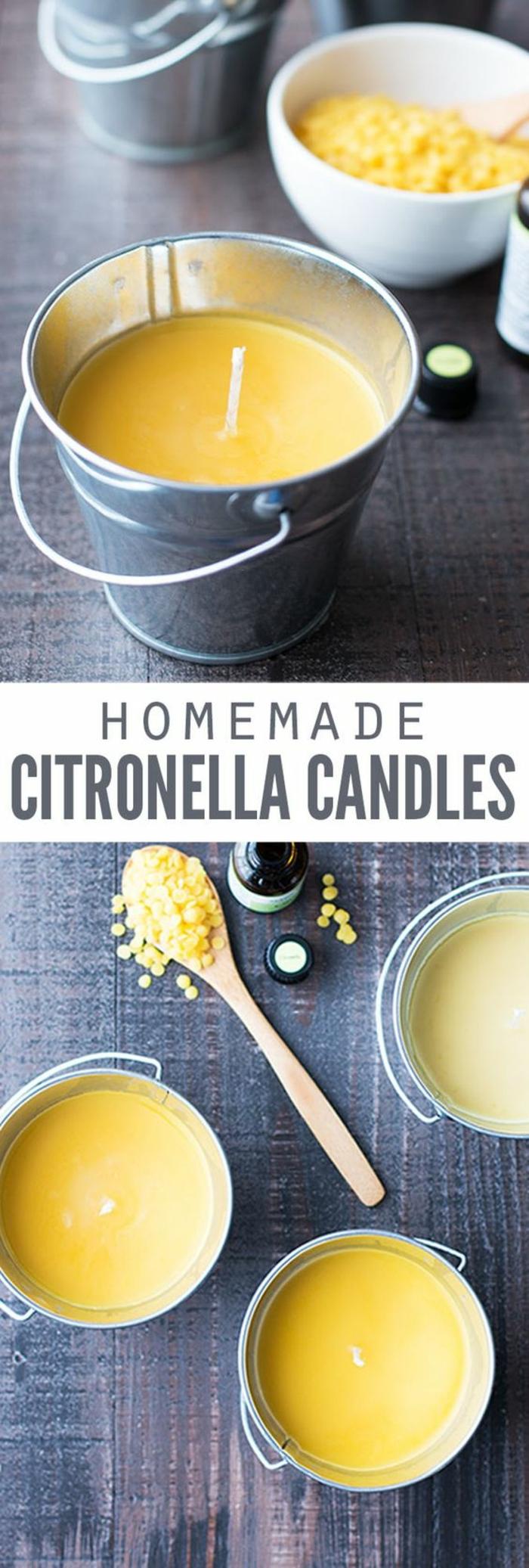 fabrication de bougie artisanale, modèle de bougie colorée et parfumée au citron, activité manuelle facile et rapide