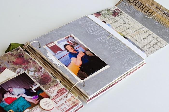 Personnaliser un album pour cadeau de sa famille, scrapbooking pas cher, couverture carnet de voyage fabriquer soi meme