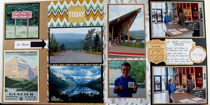 Idée comment personnaliser un livre scrapbooking, couverture carnet de voyage, page avec photos et petits descriptions
