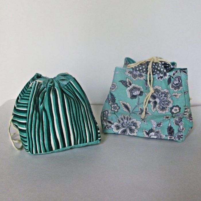 Cool modèles de sacs en tissu à faire soi-même, idée projet diy facile avec tissu fleuri
