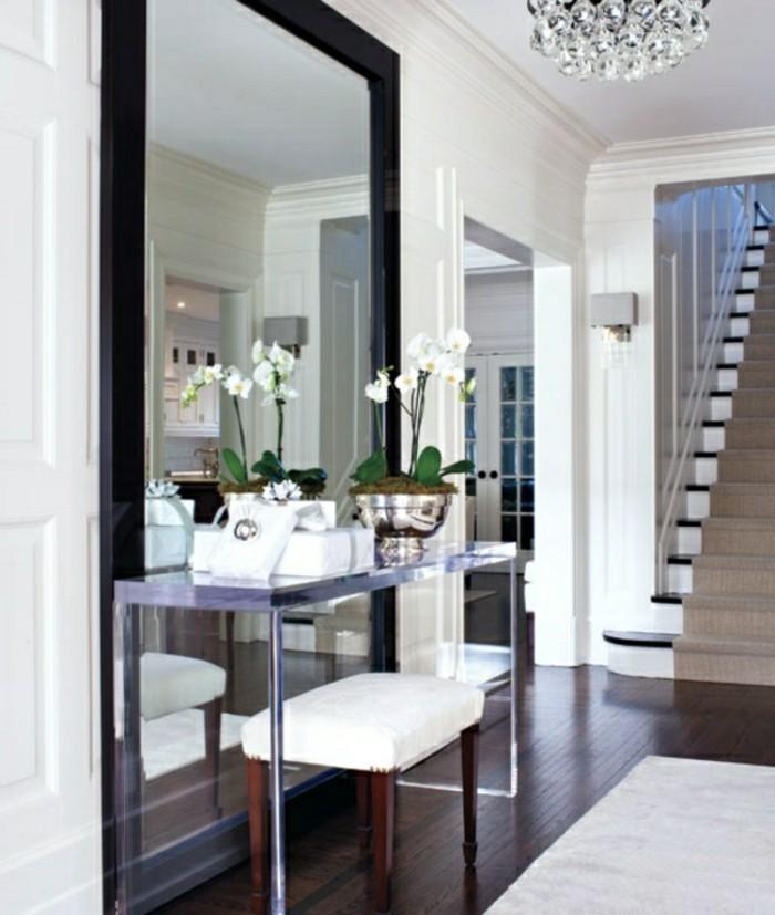 Couloir entrée noir et blanc peinture, inspiration photo déco couloir étroit, images inspiration décoration intérieur