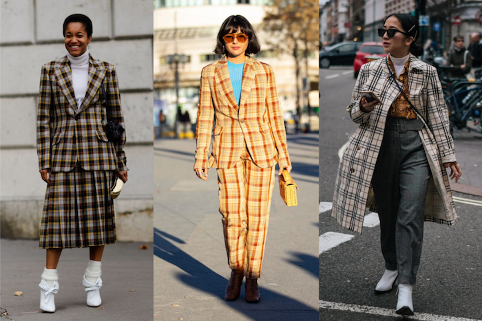 Tailleur carrée tenue femme look casual, les meilleures tendances 2019, belle tenue d'automne