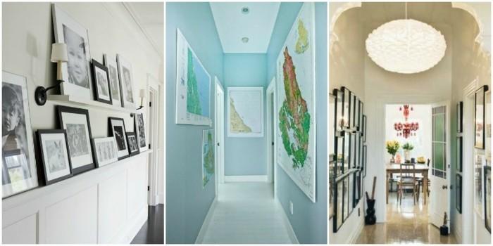 Trois idées quelle couleur pour un couloir étroit et sombre, couloir design