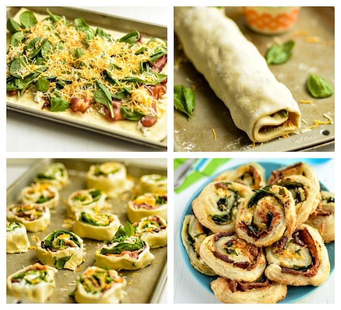 exemple d escargots recette feuilleté apéro au jambon, épinards, fromage chèvre et des fromages italiens
