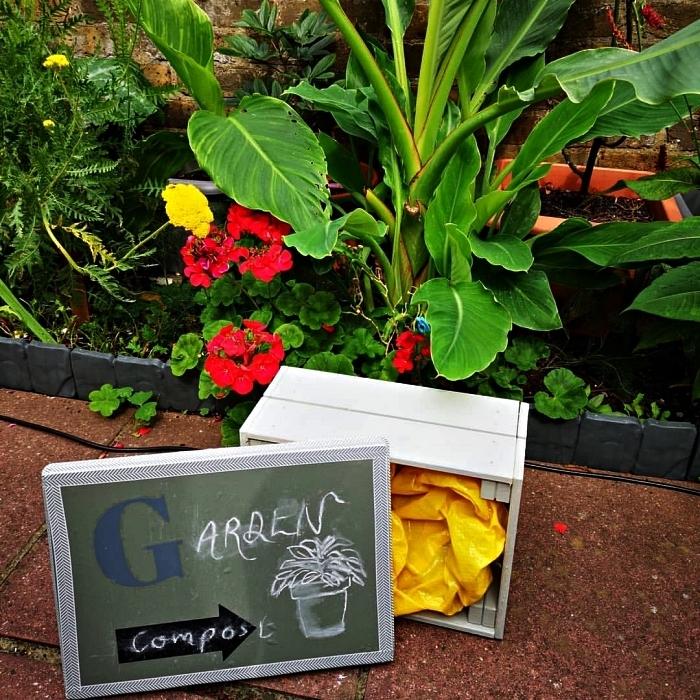 detournement meuble ikea pour le jardin, transformer une cagette en pin knagglg en composteur jardin