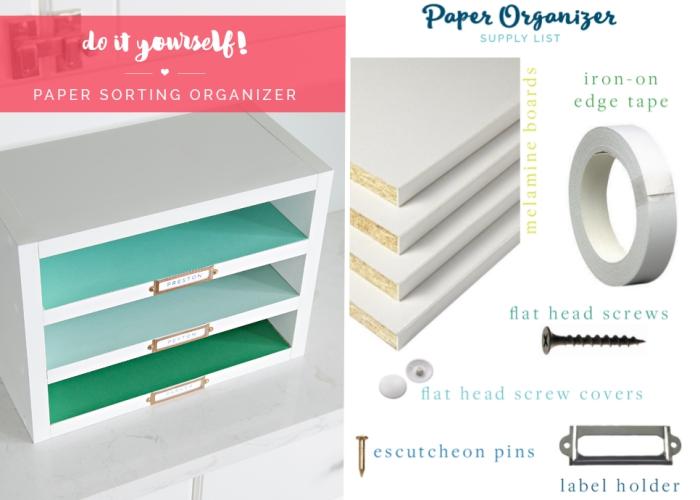 matériaux et instructions comment fabriquer un rangement bureau, idée que faire avec planche pour bureau