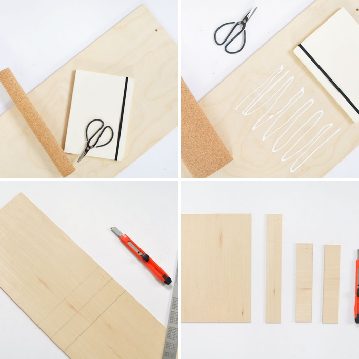idée rangement bureau à faire soi même, tutoriel fabrication organiseur en bois avec morceaux différentes tailles