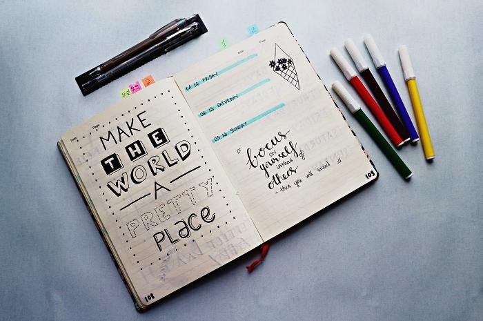 modèles de lettres pour embellir les pages de son carnet personnalisé
