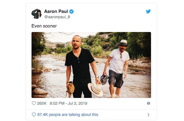 Le film El Camino, suite de la série Breaking Bad, sort le 11 octobre sur Netflix avec Aaron Paul alias Jesse Pinkman dans le rôle principal