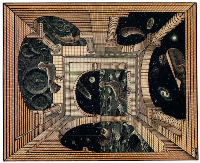 dessin illusion d'optique a reproduire par etape, comment bien dessiner comme Escher