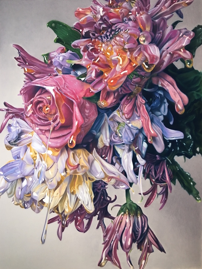 Bouquet de fleurs dessin art, dessin a faire difficile pour les professionnels, dessin coloré a reproduire