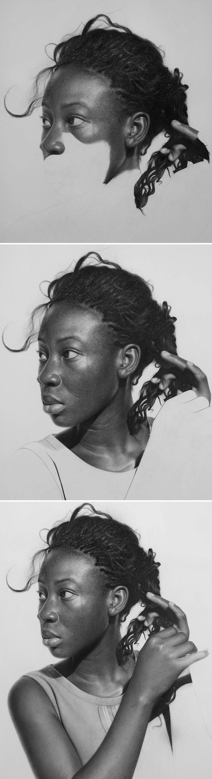 Les étapes pour la création d'une visage, dessin magnifique photo-réalisme art style, comment faire un dessin réaliste, inspiration dessin 3d