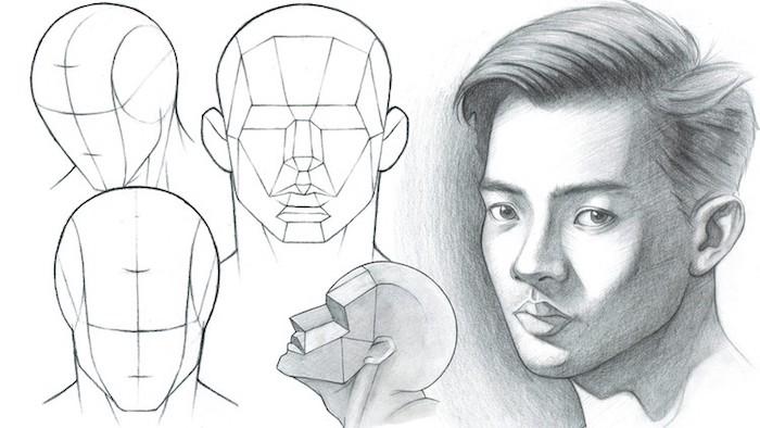 Garçon structure de visage, inspiration dessin 3d, comment faire un dessin réaliste