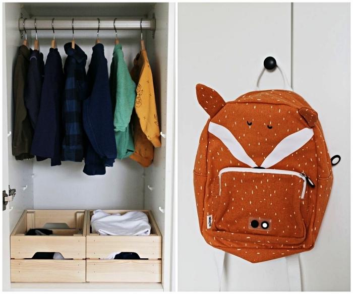 ikea boite rangement pour vêtements, des boîtes de rangement ikea knagglig pour mieux organiser le placard d'enfant
