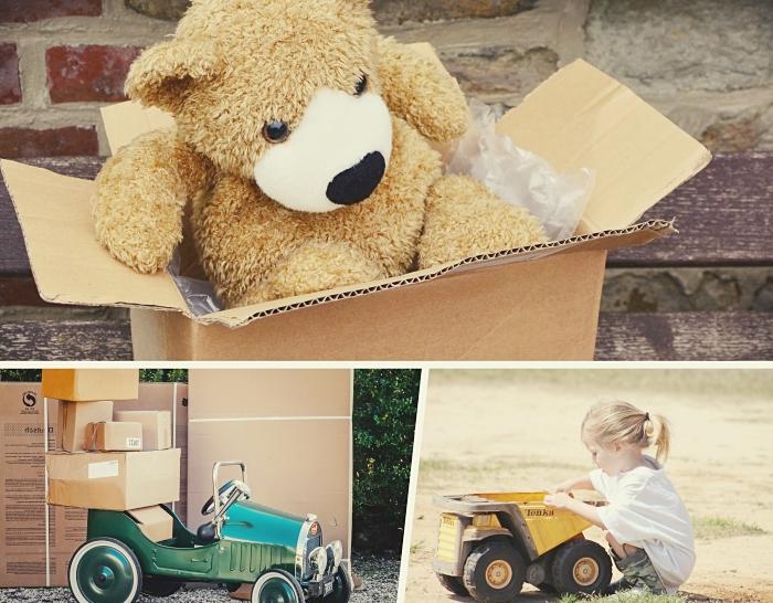 garde-meuble pour un déplacement, enfants participent au processus de déménagement, activité amusante pour enfants, préparation déménagement avec les petits