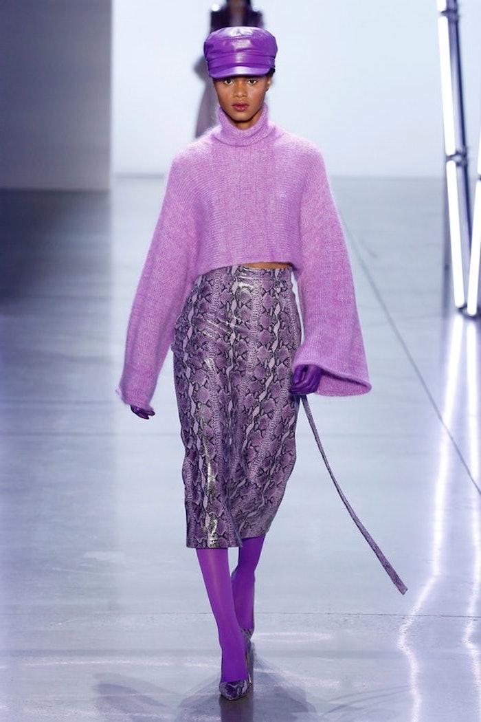 Violet tenue cool tenue hiver comment s'habiller, mode automne hiver 2019