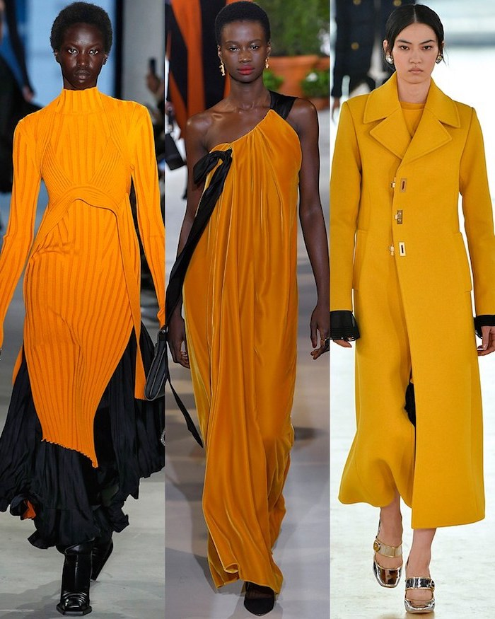 Orange robe et manteau, comment bien s'habiller, tendance automne hiver 2019 2020