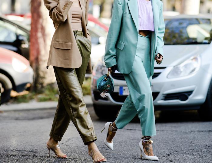 Tailleur femme moderne, look casual, les meilleures tendances 2019, belle tenue d'automne