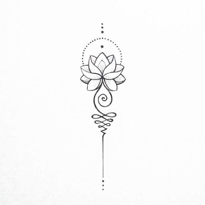 Magnifique idée comment se tatouer, lotus tatouage thailandais, quelle est la signification du lotus