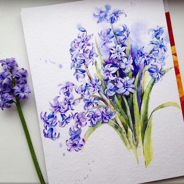 Dessin fleurs de printemps, dessin réaliste, claire obscure et perspective, petit dessin facile a faire, dessin à reproduire