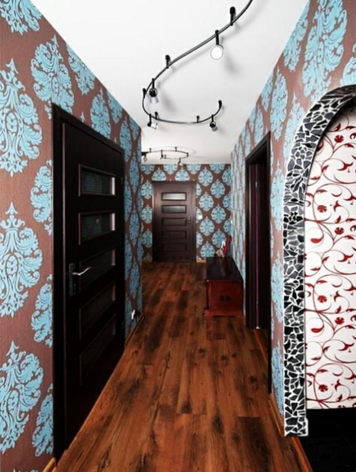 Papier peinte style baroque moderne, deco couloir long et étroit papier peint et peinture tendance