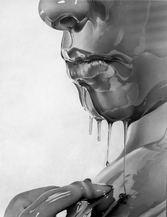 Comment bien dessiner, illusion d optique dessin hyper realiste, visage de femme