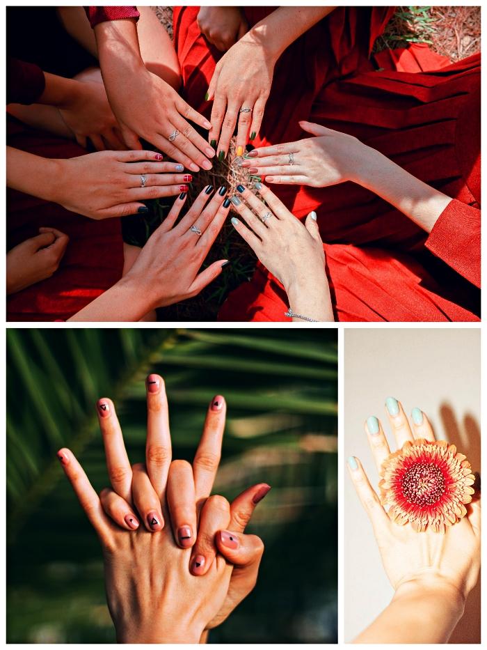 vernis semi-permanent sur ongles courts, conseils et astuces pour réussir sa manucure au gel à la maison