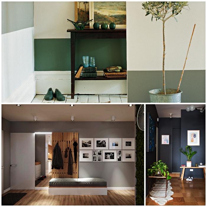 idée peinture couloir et entrée, quelle couleur choisir pour faire paraître une entrée plus grande et accueillante