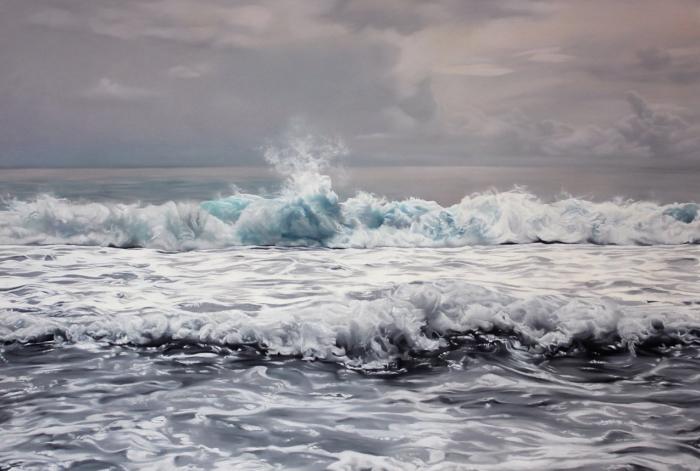 Mer dessin réaliste, comment bien dessiner, idée dessin nature paysage magnifique au bord de la mer