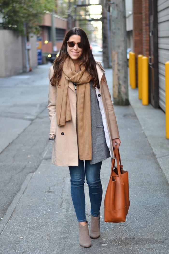 Écharpe énorme cosy, grande sac a main, mode automne hiver 2019, comment s'habiller aujourd'hui