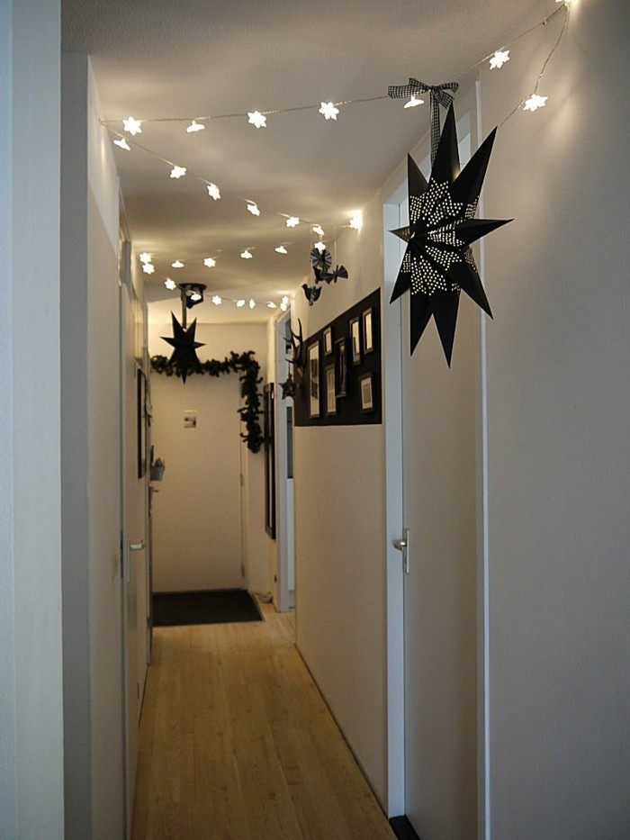 Guirlande lumineuse, tapis étroit et long pour couloir, comment décorer un couloir étroit
