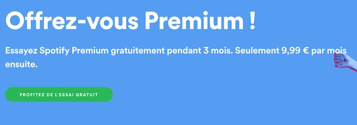 Spotify lance dès aujourd'hui l'extension de son offre d'essai gratuit, valable désormais jusqu'à 90 jours