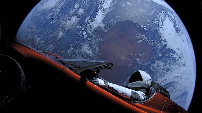 Le mannequin Starman de la société SpaceX vient de finir sa première orbite autour du soleil