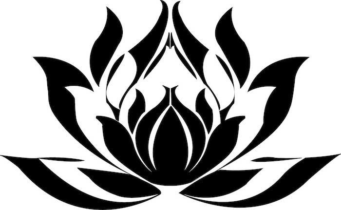 Choisir un dessin stylisé, dessin de fleur, image tatouage thailandais dessin fleurie symbole