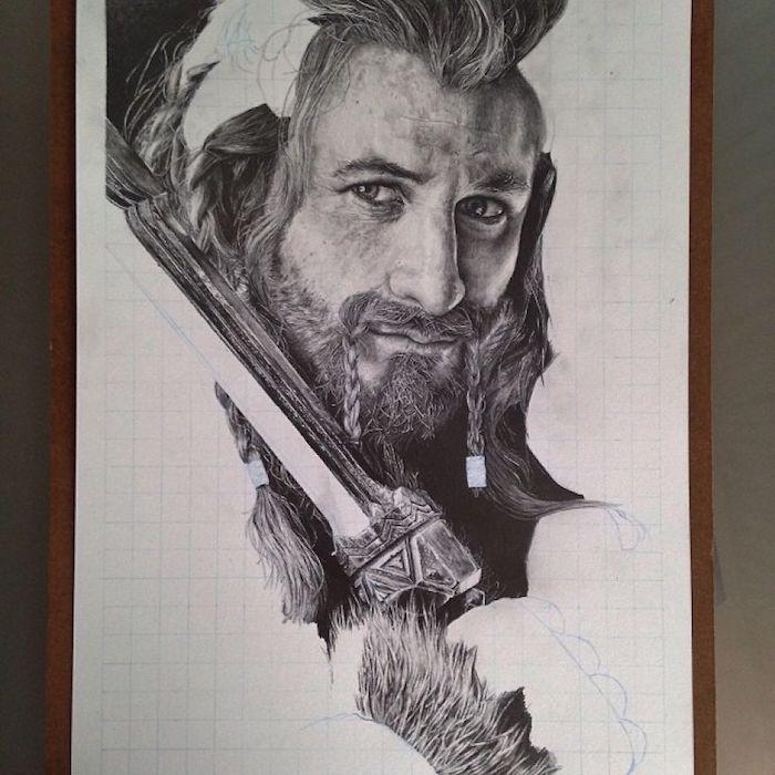 Homme dessin au fusain, dessin réaliste à faire, dessin photoréalisme