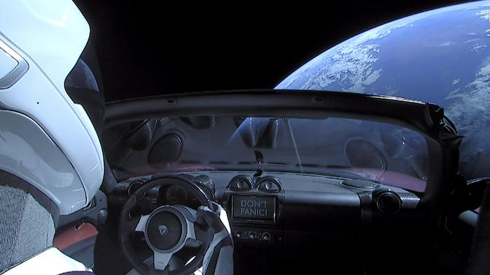 Starman de SpaceX avait été envoyé dans l'espace à bord de Falcon Heavy en février 2018