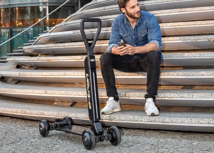 E-Tron Scooter d'Audi est une machine hybride électrique entre skateboard et trottinette