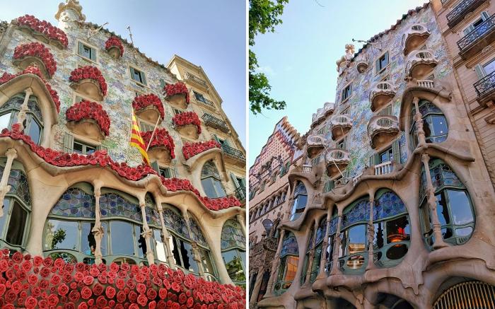 architecture catalane d'Antoni Gaudi, quelles œuvres de Gaudi voir à Barcelone, photo Casa Batllo à Barcelone
