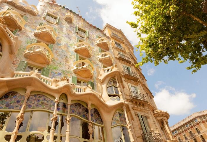 visite endroits emblématiques à Barcelone, quelles oeuvres de Gaudi visiter à Barcelone, Casa Batlló de Gaudi