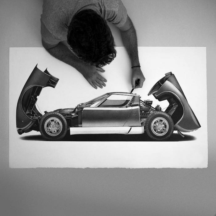 Voiture dessin réaliste, projet de voiture, comment dessiner une voiture moderne